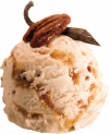 VANILLA PECAN  ICE CREAM - DECORATED SCOOPING