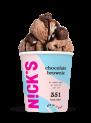 NICKS CHOCOLATE BROWNIE (LOW CALORIE ICE CREAM)