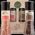 Whole Black Peppercorns With Grinder (6.5 oz /185 g ) - Pink Himalayan Salt Grinder ( 13.8 oz /390 g)
