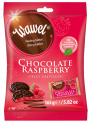 CHOCOLATE RASPBERRY-  Chocolate pastilles with raspberry jelly filling (individually wrapped)