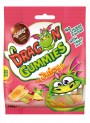 DRAGON GUMMIES JUICY - mix of filled gummies in different flavours: apple with raspberry filling, pineapple with orange filling, cherry with lemon filling