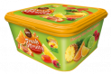 FAMILY BOX FRESH&FRUITY PURE - Mix of filled jellies with fruity filling: pineapple and orange with raspberry filling and raspberry and lime with lemon filling