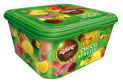 FAMILY BOXES CHOCO & FRUITY -  mix of jellies in chocolate in four flavours: orange, raspberry, lemon and pinapple