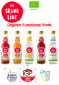 Organic Functionnal Soda with 22% of Orange juice AOP