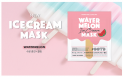 OOTD Vegan Ice Cream Mask-Watermelon