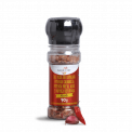 Himalayan Rose Salt w/ Seasonings - Mix with spices and calabrian pepper (Grinder & Flip Top)