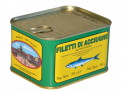 Sicilian anchovies fillets in olive oil in tin