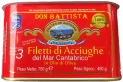 Cantabrian anchovies fillets in olive oil in tin