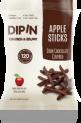 DIPIN Dark Chocolate Covered Dried Apple Sticks
