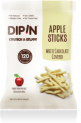 DIPIN White Chocolate Covered Dried Apple Sticks