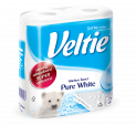 Veltie Household Towels Pure White 2ply 47pcs  FSC Ecolabel (different formats)
