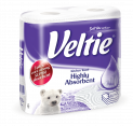 Veltie Household Towel Highly Absorbent 2 rolls 3 ply 71pcs