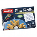 Filo Rolls with Hummus and Vegetables