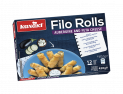 Filo Rolls with Aubergine and Feta Cheese