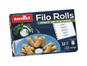 Filo Rolls with Spinach and Feta Cheese