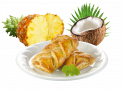 coconut-pineapple pastry braid