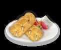 Raspberry-cream pastry braid