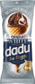 DADU vanilla ice cream with milk chocolate glazing and almonds in waffle cone 150ml