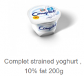 Complet strained Yogurt 10% fat