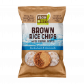 Brown Whole Grain Rice Chips with Super Seeds Amaranth & Buckwheat
