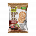 Brown Whole Grain Rice Chips with Barbecue Flavour