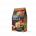 Brown Whole Grain Rice Rolls with Pizza Flavour