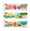 Fruit bar with goji berry, chia seeds or matcha tea
