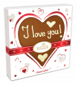 "Personalized Milk Heart 100g ""I love you"""