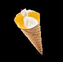 Sorbet cone- Yoghurt – mango sorbet