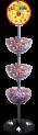 3-Tiered Bubble Floor Display