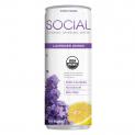 SOCIAL Organic Sparkling Water | Lavender Lemon