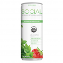 SOCIAL Organic Sparkling Water | Strawberry Basil
