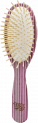 BIG OVAL BRUSH IN KALEIDOWOOD WHITE, ROSA AND LILA