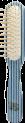 BIG RECTANGULAR BRUSH IN KALEIDOWOOD BLUE,WHITE AND LIGHT-BLUE