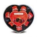 J61311 - Several Flavors Chocolate Bombons Plastic Heart-shaped Doña Jimena 80g