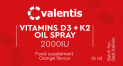 Vitamins D3+K2 OILS SPRAY 2000IU