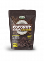 Stripped Dark Chocolate Coated Coconut Crisps.