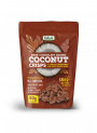 Stripped Cacao Coated Coconut Crisps.
