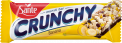 Crunchy bar with bananas and chocolate coating