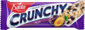Crunchy bar with plums and vanilla coating