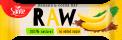 Raw bar with banana and cocoa