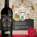CAPE FIVE RESERVE ORGANIC RED 2013