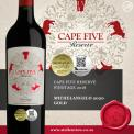 CAPE FIVE RESERVE PINOTAGE 2017