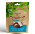 Organic marshmallows coated with milk chocolate
